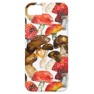 Watercolor mushrooms Cute fall pattern Barely There iPhone 5 Case