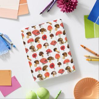 Watercolor mushrooms Cute fall pattern iPad Cover