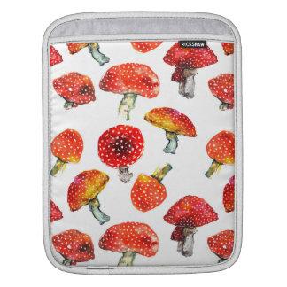 Watercolor mushrooms Cute fall pattern iPad Sleeve