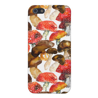 Watercolor mushrooms Cute fall pattern iPhone 5 Case