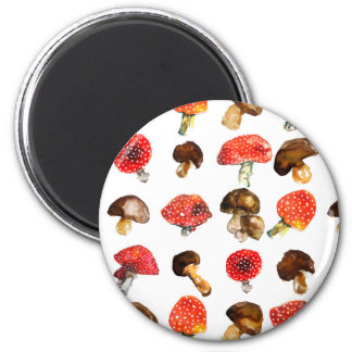 Watercolor mushrooms Cute fall pattern Magnet
