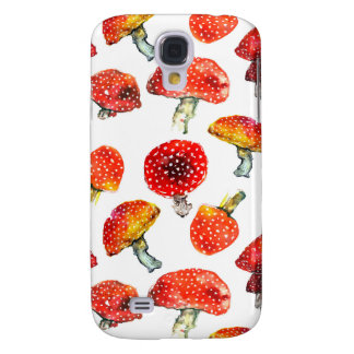 Watercolor mushrooms Cute fall pattern Samsung Galaxy S4 Cases