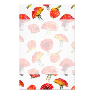 Watercolor mushrooms Cute fall pattern Stationery