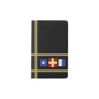 Watercolor Nautical Maritime Signal Flag Monogram Pocket Moleskine Notebook