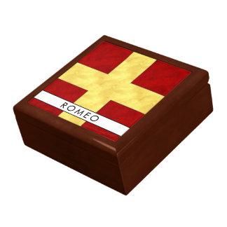 Watercolor Nautical Signal Maritime Flag Gift Box