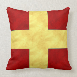 Watercolor Nautical Signal Maritime Flag | NB API Cushion