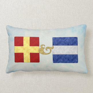Watercolor Nautical Signal Maritime Flag | NB API Lumbar Cushion