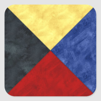 Watercolor Nautical Signal Maritime Flag Square Sticker