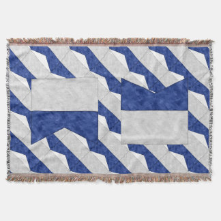 Watercolor Nautical Signal Maritime Flag Throw Blanket