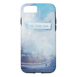 "Watercolor Nautical ""To the Sea"" iPhone 7 Case"