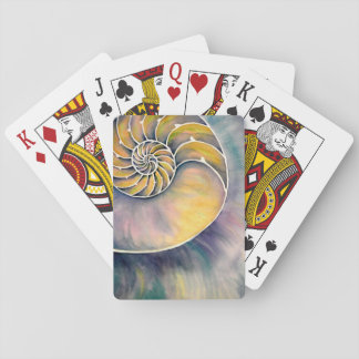 Watercolor Nautilus Playing Cards