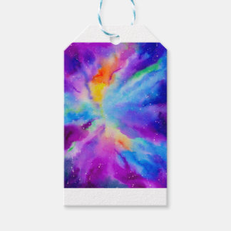 Watercolor Nebula Gift Tags