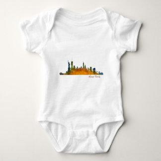 Watercolor New York Skyline Baby Bodysuit