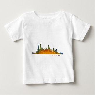 Watercolor New York Skyline Baby T-Shirt