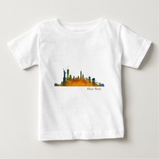 Watercolor New York Skyline Baby T-Shirt
