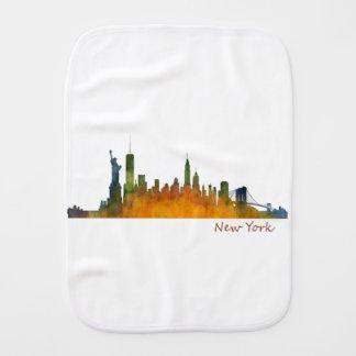 Watercolor New York Skyline Burp Cloth