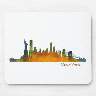Watercolor New York Skyline Mouse Pad