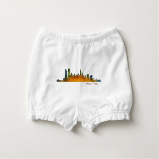 Watercolor New York Skyline Nappy Cover