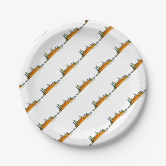Watercolor New York Skyline Paper Plate