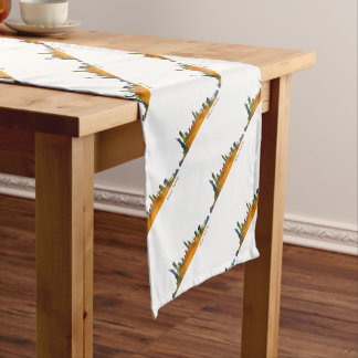 Watercolor New York Skyline Short Table Runner