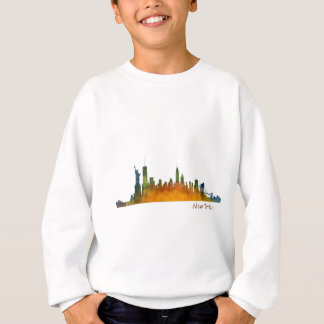 Watercolor New York Skyline Sweatshirt