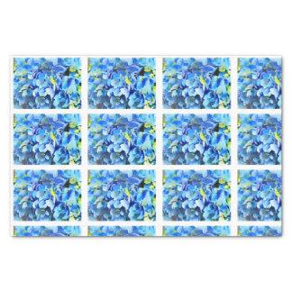Watercolor Nikko Blue Hydrangea Decoupage tiles Tissue Paper