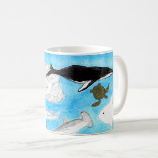 Watercolor Ocean Animals Mug