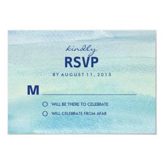 Watercolor Ocean RSVP /Wedding Response Cards 9 Cm X 13 Cm Invitation Card