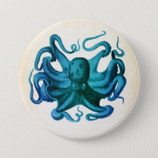 Watercolor Octopus Illustration 7.5 Cm Round Badge