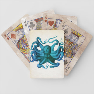 Watercolor Octopus Illustration Bicycle Playing Cards