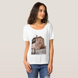 Watercolor of a building on a street in Portugal T-Shirt