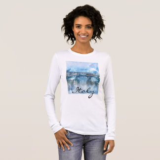 Watercolor of Florence Italy Long Sleeve T-Shirt