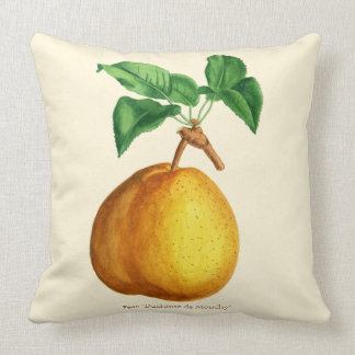 "Watercolor of Pear ""Duchesse de Mouchy"" Cushion"
