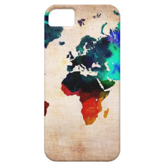 Watercolor old world map cute iPhone 5 cases