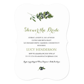 Watercolor Olive Orchard | Bridal Shower 13 Cm X 18 Cm Invitation Card