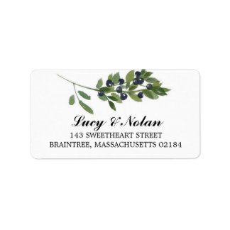 Watercolor Olive Orchard | Mailing Address Address Label