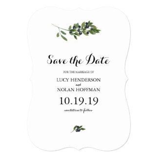 Watercolor Olive Orchard   Save the Date Card