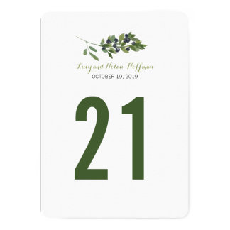 Watercolor Olive Orchard | Table Number Card