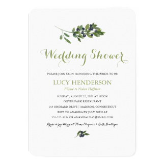 Watercolor Olive Orchard | Wedding Shower Card