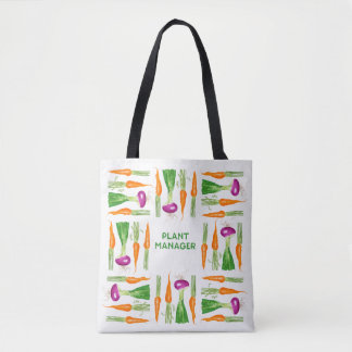 Watercolor Onion and Carrots Tote Bag