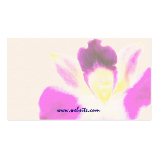 Watercolor Orchid Business Card Template