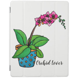 Watercolor Orchid Plant In Beautiful Pot iPad Cover