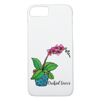 Watercolor Orchid Plant In Beautiful Pot iPhone 8/7 Case