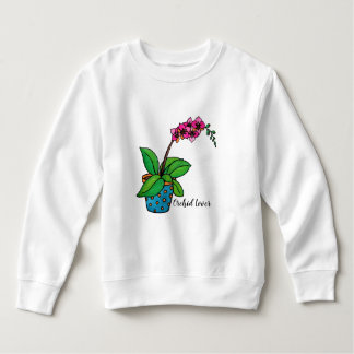 Watercolor Orchid Plant In Beautiful Pot Sweatshirt