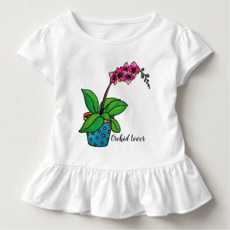 Watercolor Orchid Plant In Beautiful Pot Toddler T-Shirt