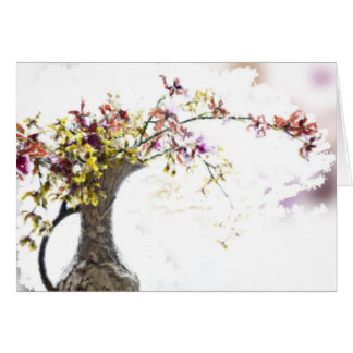 Watercolor Orchids in Vase Notecards Note Card
