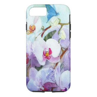 Watercolor Orchids White and Pink iPhone 8/7 Case