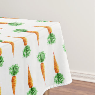 Watercolor organic vegetables home kitchen design, tablecloth