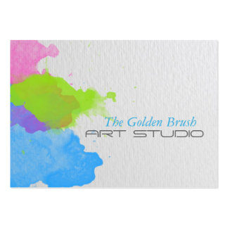 Watercolor Pack Of Chubby Business Cards