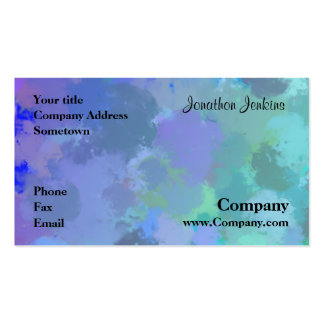 Watercolor Pack Of Standard Business Cards